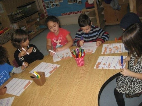 preschool learning to write-blurred