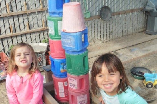 stacking blocks at preschool
