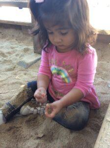 preschool sandbox play