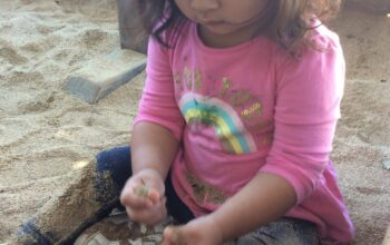 preschool sandbox play